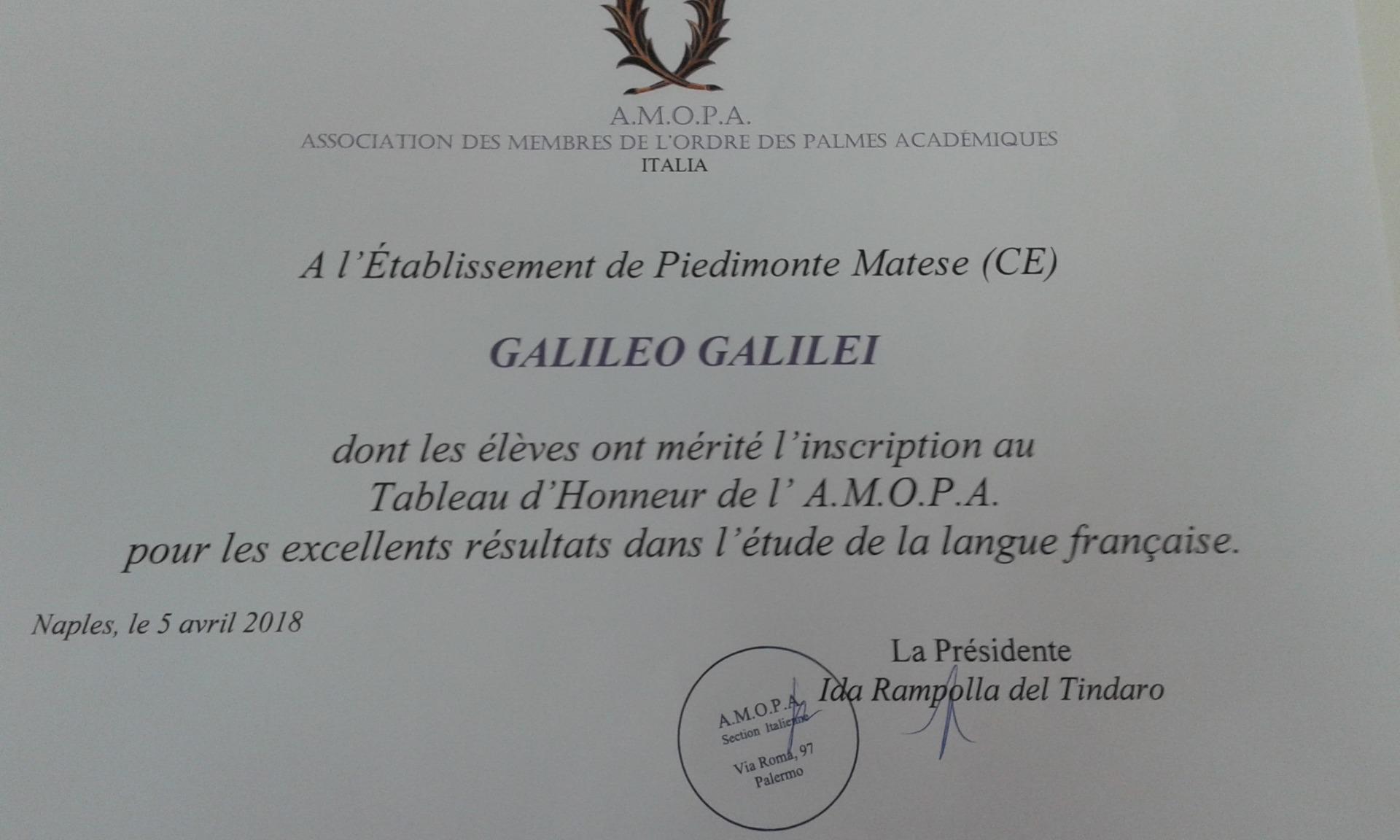 Fotogallery Conferimento Tableaux d'Honneur